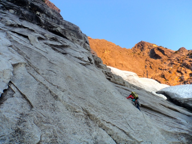 Me leading in the shade, before sun comes up (Pitch 1)