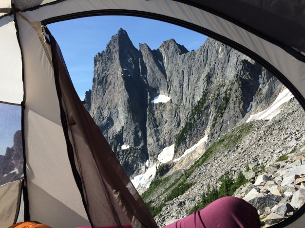 view from the tent, not bad at all!
