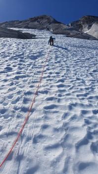 Pitch 23, steep snow