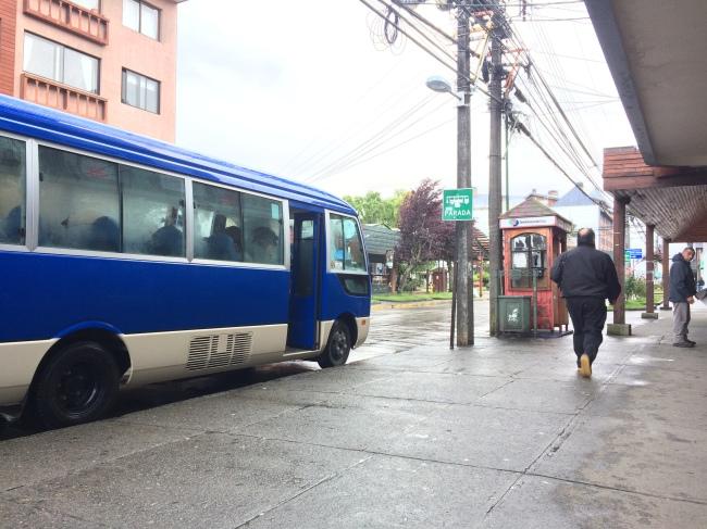 Bus Stop at Del Salvador and Santa Rosa.